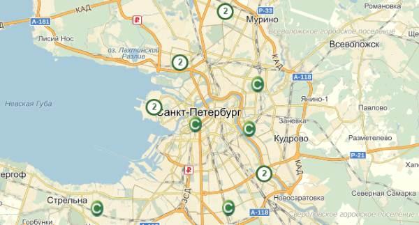 Адреса в Санкт-Петербурге Сетелем Банк