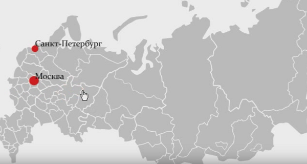 карта регионов распространения автокредитования